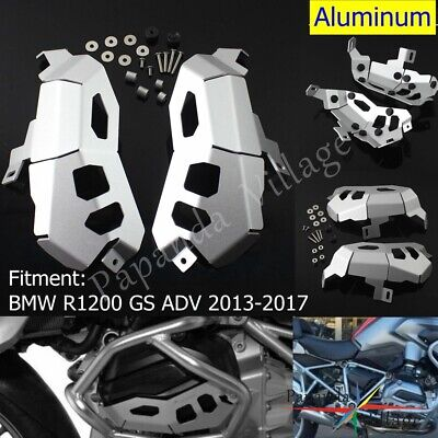 Cylinder Head Engine Guards Protector Cover Silver For BMW R1200 GS ADV 2013-16