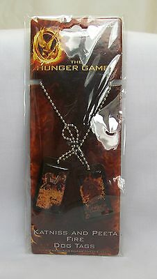 The Hunger Games Peeta Katniss & District 12 Dog Tags Ball Chain Necklace *New