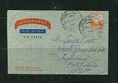Italy 1963 Aerogramme Stamp Cover Air Mail To Usa