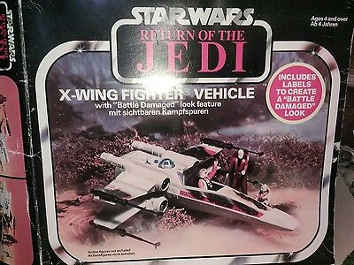 star wars vintage X WING FIGHTER RETURN OF THE JEDI FANTASTIC CONDITION BOXED