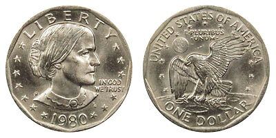 1980 P Susan B Anthony One Dollar United States LIBERTY ( 1 COIN ) RARE