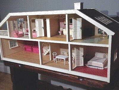 Village Lundby 2 Story *Electric* Miniature Dollhouse With Furniture And Lights