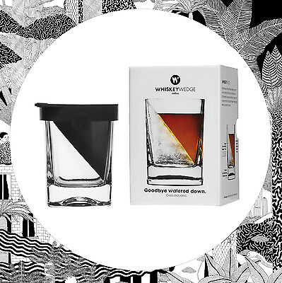Corkcicle Whisky Wedge- Specialist Spirit Glass With Ice Wedge Mould Rum Vodka