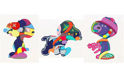 Kaws - No One's Home, Stay Steady, The Things That Comfort - Signed Prints
