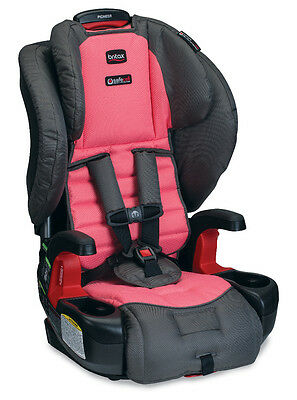Britax Pioneer G1.1 Booster Car Seat With Harness in Coral New!
