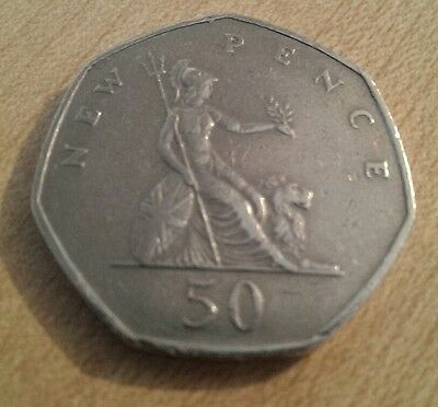 RARE 1969 Old Large 50 Pence Piece