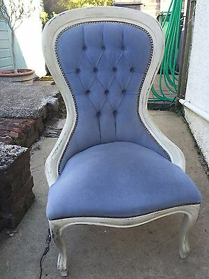 Vintage Victorian Style  Shabby Chic Painted Nursing Chair