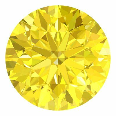 1.3 MM CERTIFIED Round Fancy Yellow Color VS 100% Real Loose Natural Diamond #D