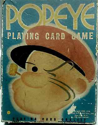 1938 Popeye Playing Cards Game comes w/ cards & instructions FREE USA SHIPPING !