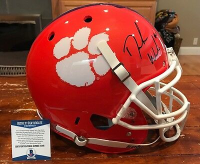 Deshaun Watson Autographed Clemson Tigers Authentic Orange Schutt Helmet Beckett
