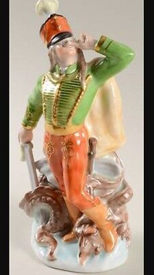 Herend Dragon Slayer Hand Painted Porcelain Figure 1938