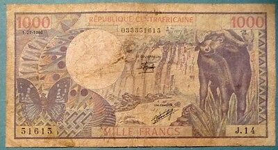 Central African Republic 1000 1 000 Francs Note Issue 01.07.1980.  P 10