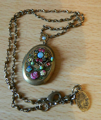 Michal Negrin ornate locket and chain