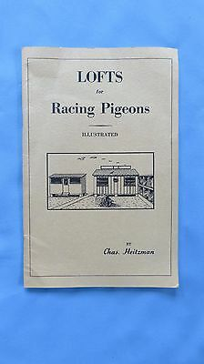 "Vintage "" Lofts for Racing Pigeons"" 1960's- Chas. Heitzman"
