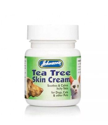 Johnsons Tea Tree Skin Cream For Cats Dogs And Other Pets 50g