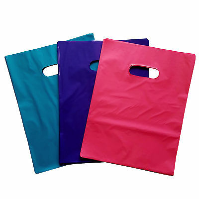 Glossy Merchandise Bags Various Sizes, Quantities & Colors 25 - 150 Pink Purple