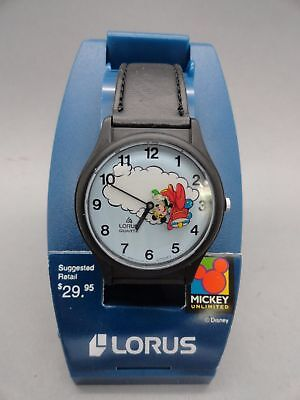 Rare New Old Stock Lorus Quartz Mickey Unlimited Disney Watch RWG009 Collectible
