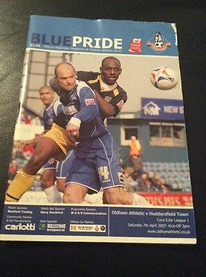 Oldham V Huddersfield Football Program League 1 7 April 2007