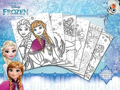 Frozen Colouring Posters - New Frozen Colouring 6 Poster Pack Pcp0068