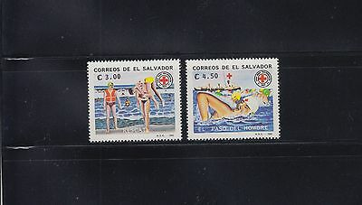 El Salvador 1992 Red Cross Sc 1293-1294 Complete mint never hinged