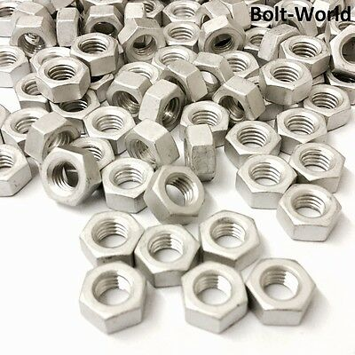 Aluminium Hexagon Full Nuts Grade 6101 Din 934 Metric M3 M4 M5 M6 M8 M10 M12 M16