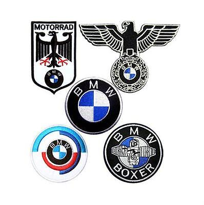 5 BMW R1200 F800 R1100 R1150 GS Adventure Motorcycle Iron on Jacket Shirt Patch