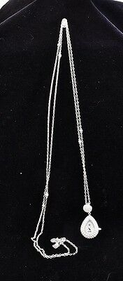 Victoria Wieck Beverly Hills Crystal Watch Pendant Necklace 59'' Chain. (V3711)
