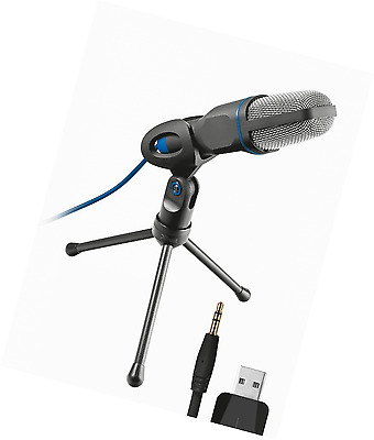 Trust Micro USB Microphone for PC and Laptop (Includes Tripod, Studio style)