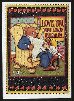 UNUSED 1984 Mary ENGELBREIT.   FATHER'S DAY Greeting Card   YOU OLD BEAR w/env