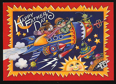 UNUSED 1999 Mary ENGELBREIT.   FATHER'S DAY Card   HELLO FROM OUTER SPACE w/env