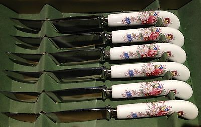 Royal Crown Derby Posies Fruit Knives Set of 6
