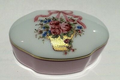 Limoges France Peint Main Trinket Box 2 Piece