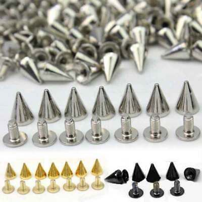 10mm Trendy Spots Cone Screw Metal Bullet Studs Punk Rivet Spike For Bag Clothes