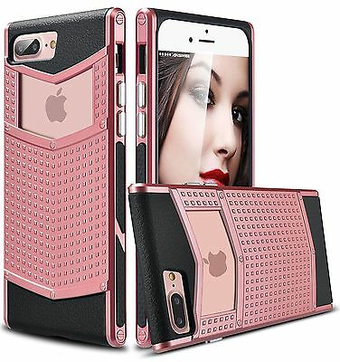 For iPhone 7 8 Plus Luxury Shockproof Armor Heavy Duty Rubber Hybrid Case Cover