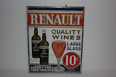 Renault Winery - Oldest Continually Operating Vintage Framed Sign Very Excellent