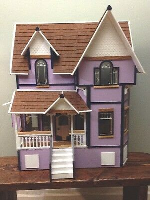 DURA-CRAFT DOLL HOUSE NB180 *ASSEMBLED* folk art oil painted vintage W/FURNITURE