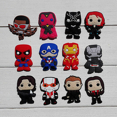 100pcs Avengers PVC Shoe Charms Accessories Fit for Cro c&J ibbitz Party Gift