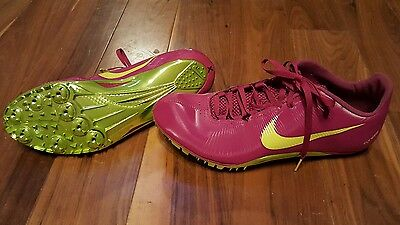 Nike Womens Pink & Yellow Flywire Athletic Cleats Shoes Size 8