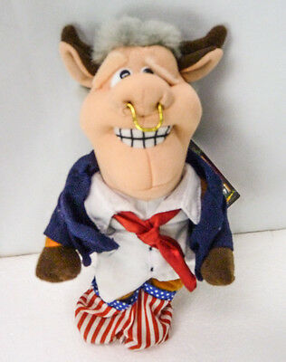 Bull Bill Clinton President Spoof MEANIES Bean Bag Plush Spoof Toy Infamous