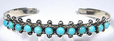 Natural Genuine Kingman Turquoise 925 Sterling Silver Woman's Cuff Bracelet