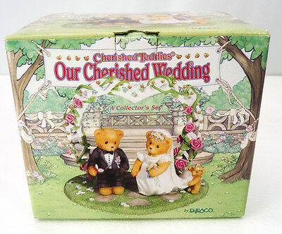 Cherished Teddies - Our Cherished Wedding 3-Piece Cake Topper Figurine Set