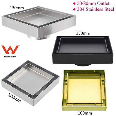 Bathroom 100mm Smart Square Stainless Steel/Brass Floor Waste Drain Shower Grate