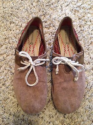 Merrell Oleander Rusksack Womens Shoes Canvas Loafers Slip On Flats 10 Brown