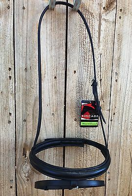 new soft padded hanoverian noseband, black warmblood