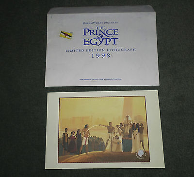 Vintage Dreamworks Movie Prince Of Egypt 1998 Limited Edition Lithograph, GUC!