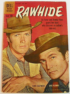 Four Color # 1097 (1960) Rawhide Clint Eastwood photo - c Russ Manning art