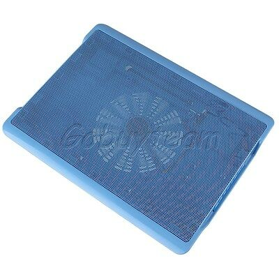 Blue One Big Fan Laptop Notebook Cooling Cooler Stand Pad USB Port For 15.6 Inch