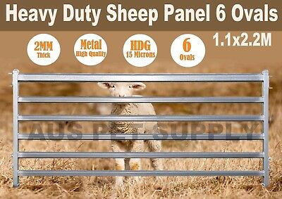 1.1 x 2.2M Heavy Duty Sheep Goat Pig Panel Cattle Yard Fencing 6 Oval 2mm thick