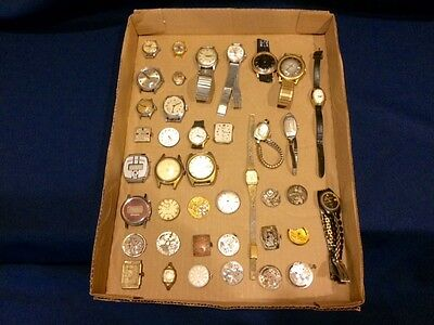 Lot #1 Watch Wristwatch Movement Watchmaker Parts For Repair