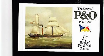 Gb Stamps- Prestige Booklet- Dx- 8, The Story Of P & O, 1987